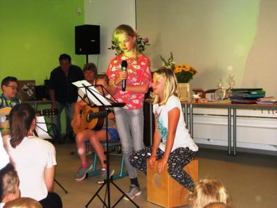 Unsere Musikusse: in eigener Regie ein Lied getextet und vorgetragen
