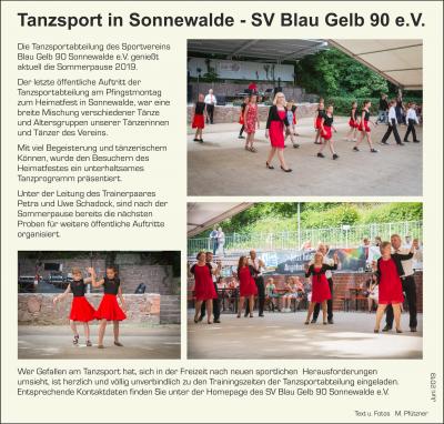 Foto zur Meldung: Tanzen: Unsere Tanzsportabteilung aktiv beim Pfingstfest