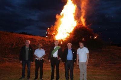 Foto zur Meldung: Eine ganz besondere Sonnwendfeier mit Fackelzug der Feuerwehr-Jugend