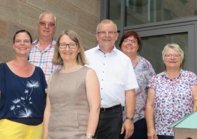 von links nach rechts: Tatjana Höfer, Wolfgang Ziegler, Elsbeth Krauß, Markus Holub, Michaela Schirle, Ulrike Scheuermann