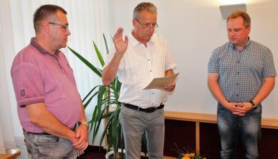 Foto zur Meldung: Willi Voß als Bürgermeister vereidigt