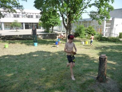 Vorschaubild zur Meldung: Wasserspiele im Sportunterricht