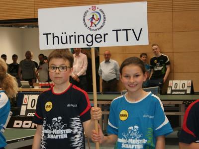 Die Thüringer Teilnehmer (v.r.): Lilly Reining aus Christes und Laurenz Schweiger aus Gera.