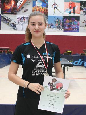 Pia Ludwig gewinnt ohne Niederlage die Vorrangliste Thüringens