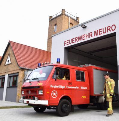 Vorschaubild zur Meldung: Punktlandung in Meuro: Neues Depot steht nun der Feuerwehr zur Verfügung