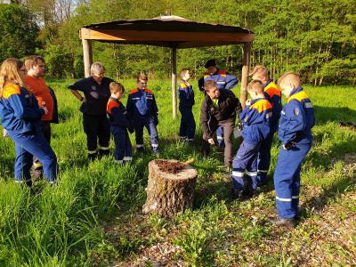 Vorschaubild zur Meldung: Exkurs zum Thema Natur mit Nachwuchsbrandschützern