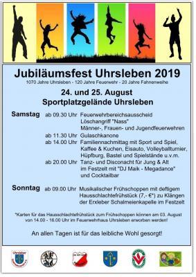 Jubiläumsfest Uhrsleben 2019