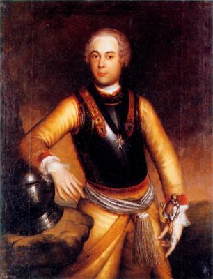 Hans Hermann von Katte als Offizier des Kürassierregimentes Gens d'armes, Ölgemälde von Georg Lisiewski, 1730