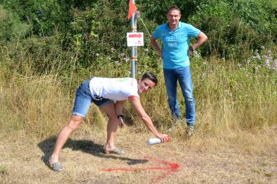 Foto zur Meldung: 11. Städtedreieckslauf – Laufstrecken wurden zum Trainieren markiert!