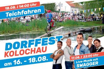 Foto zu Meldung: Dorffest in Kolochau mit traditionellen Teichfahren