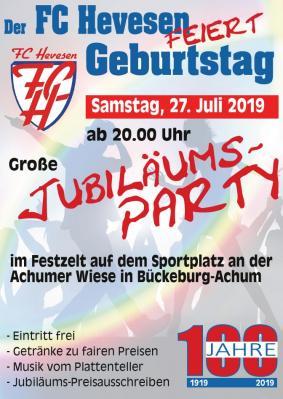 Foto zur Meldung: Jubiläums-Party beim FC Hevesen
