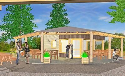 Foto zur Meldung: Finsterwalder Tierpark erhält moderne Cafeteria