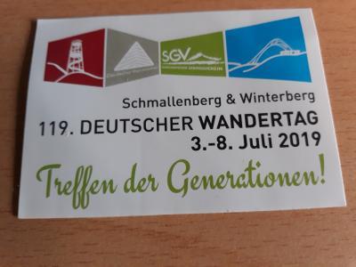 Vorschaubild zur Meldung: Wanderwoche zum 119. Deutschen Wandertag in Schmallenberg und Winterberg (02.07. - 09.07.2019)
