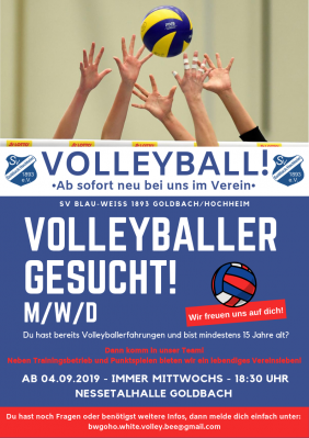 Vorschaubild zur Meldung: Abteilung Volleyball startet!