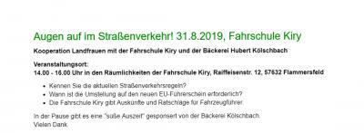 Vorschaubild zur Meldung: Augen auf im Straßenverkehr! Freiwilligentag Verbandsgemeinde Flammersfeld