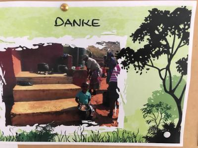 Die Kinder aus dem Swasiland sagen Danke