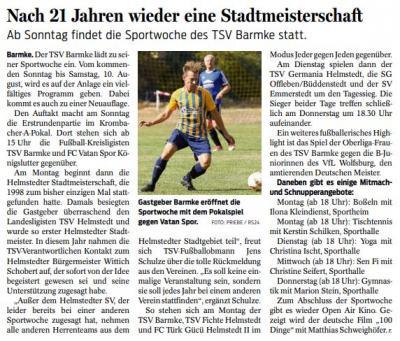 Foto zur Meldung: Sportwoche des TSV Barmke