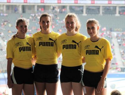 Vorschaubild zur Meldung: 4x100m-Staffel läuft Vereinsrekord bei der DM in Berlin