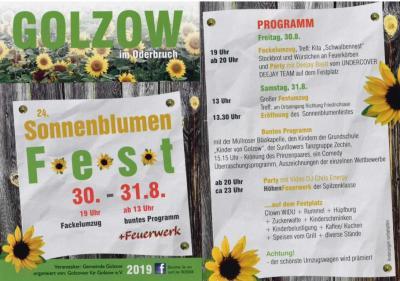 Foto zur Meldung: 24. Sonnenblumenfest am 30. und 31. August 2019 in Golzow