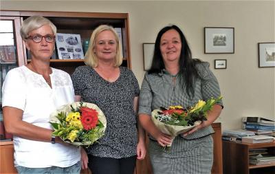 Foto zu Meldung: Neue Leitung der Grundschule stellt sich im Rathaus vor