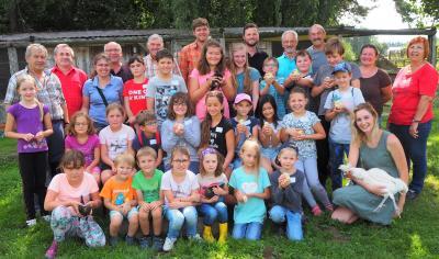Die Teilnehmer am Ferienprogramm