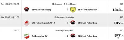 Foto zur Meldung: Fußball: Pflichtspielauftakt für ESV I