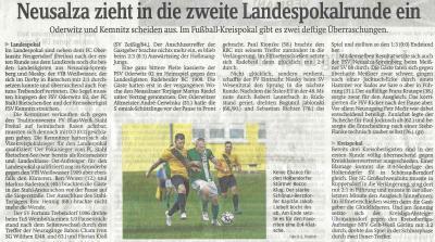 Foto zur Meldung: Pokalsensation in Ruppersdorf!