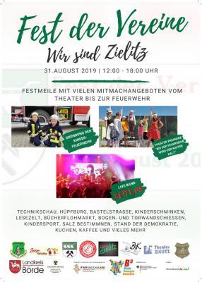 Fest der Vereine am 31. August in Zielitz