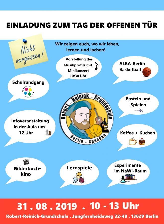 Robert Reinick Grundschule Tag Der Offenen Tür Am 310819