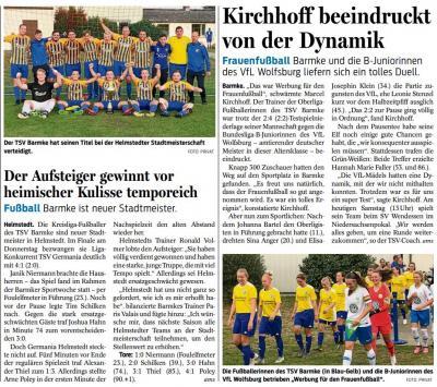 Foto zur Meldung: Fussball - News