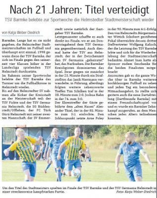 Vorschaubild zur Meldung: Helmstedter Stadtmeisterschaft