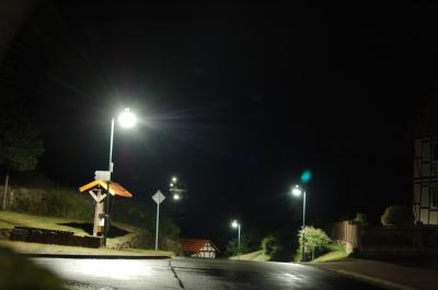 Foto zur Meldung: Bühren leuchtet in LED Licht