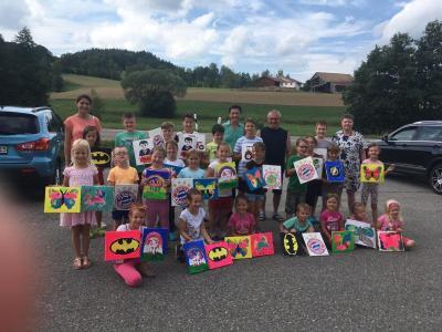 Foto zur Meldung: Ferienprogramm beim Dorfverein Hagengrub