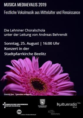 Foto zur Meldung: Gesänge des Mittelalters mit der Choralschola + Orgel + E-Gitarre