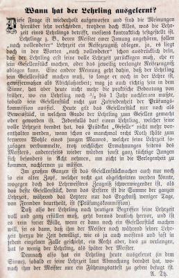 Artikel Drechslerzeitung 1893