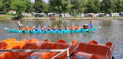 Drachenbootrennen auf der Lahn 2019