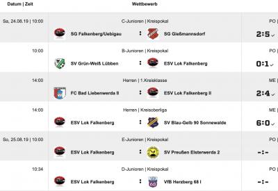 Sonntag E- und D- Junioren Pokalturnier