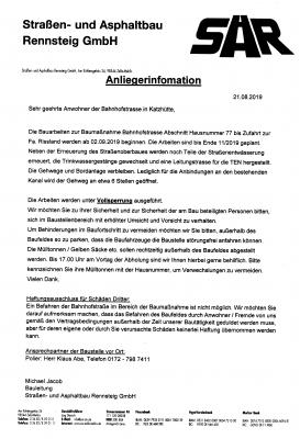 Anliegerinformation