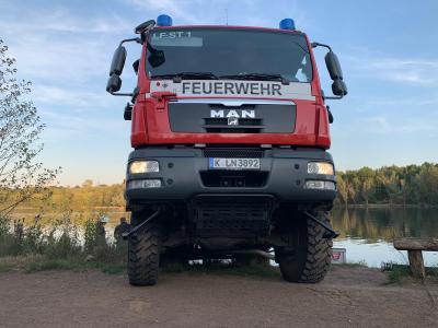 Foto zur Meldung: Übungsdienst am Höhenfelder See