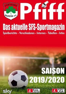 Vorschaubild zur Meldung: Pfiff - Das Sportmagazin feiert 20 jähriges Jubiläum