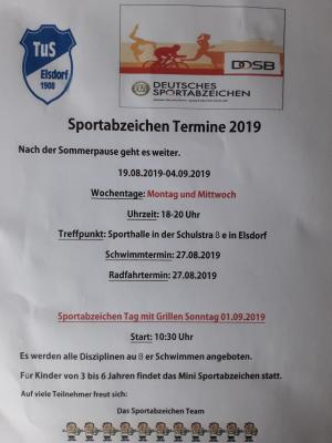 Vorschaubild zur Meldung: Sonntag Tag des Sportabzeichens 2019