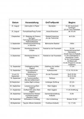 Vorschaubild zur Meldung: Das ist im verbleibenden August und im September in der Gemeinde los