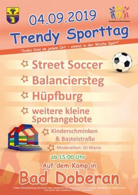Foto zur Meldung: Trendy Sporttag in Bad Doberan am 04. September 2019