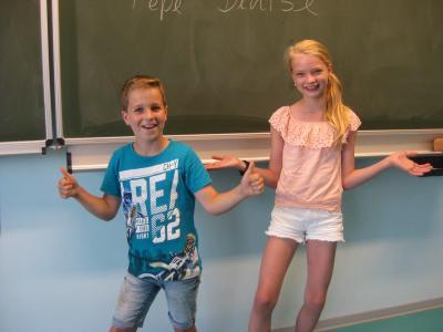 Denise und Pepe, die neuen Schülersprecher*innen