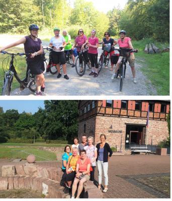 Foto zur Meldung: Gymnastikgruppe mit dem Rad auf Tour