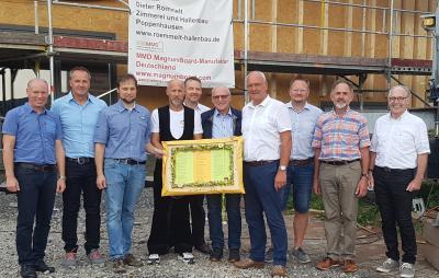 Vorschaubild zur Meldung: Richtfest für den Neubau der Kindertagesstätte