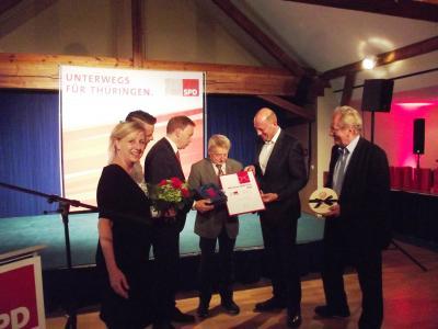 Vorschaubild zur Meldung: Hermann-Brill-Preis für Erhard Freitag aus Gräfenroda