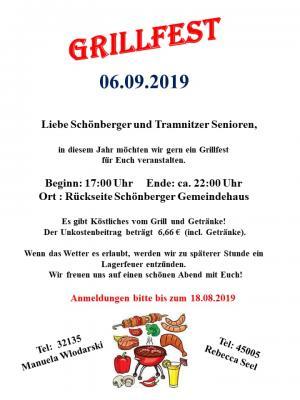 Vorschaubild zur Meldung: Grillfest der Schönberger Senioren