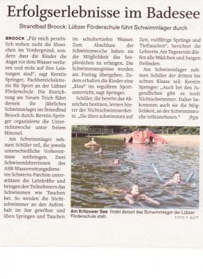 Vorschaubild zur Meldung: Schwimmunterricht