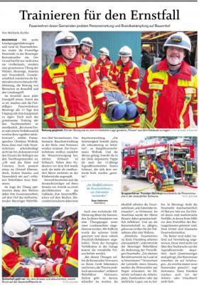 Vorschaubild zur Meldung: Gemeinschaftsübung mit den Feuerwehren Haselau und Neuendeich